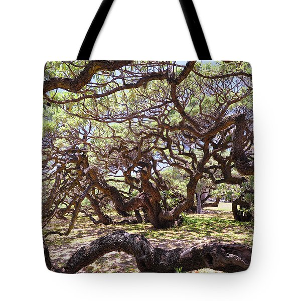 In The Depth Of Enchanting Forest Tote Bag by Jenny Rainbow