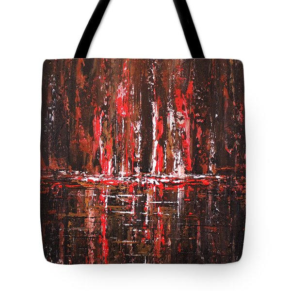 Tote Bag featuring the painting In The Heat Of The Night by Patricia Lintner