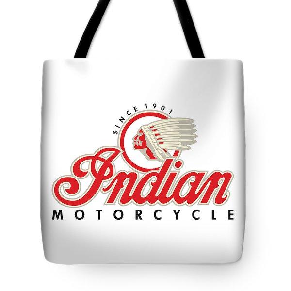 Indian Motorcycle Logo Tote Bag