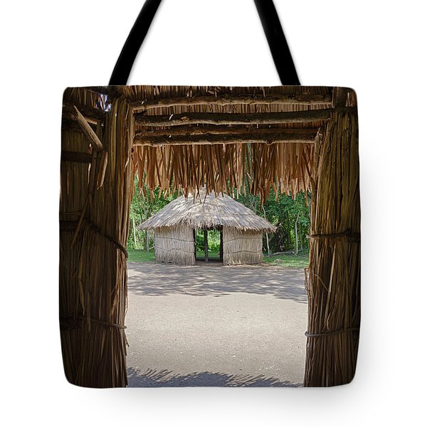 Tote Bag featuring the photograph Indigenous Tribe Huts In Puer by Bryan Mullennix