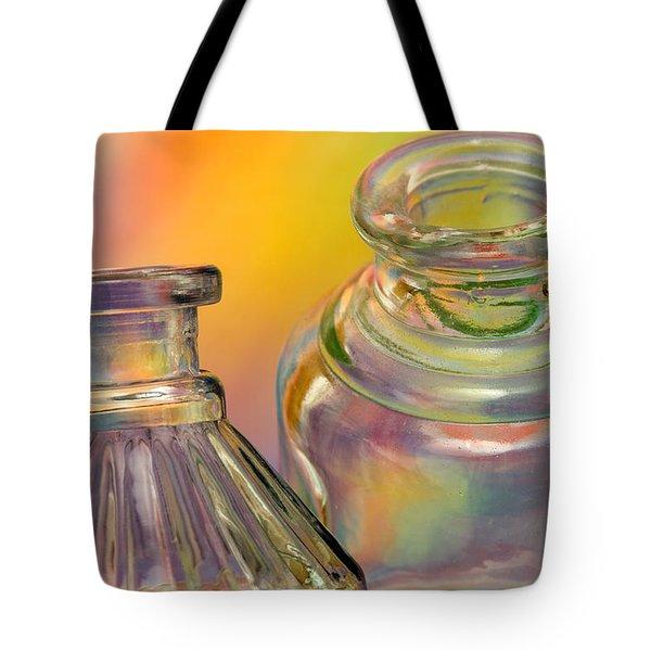 Ink Bottles On Color Tote Bag