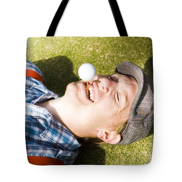 Insane Sport Nut Crazy About Golf Tote Bag
