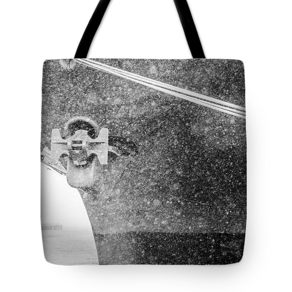 Interpid Under Snowfall Tote Bag