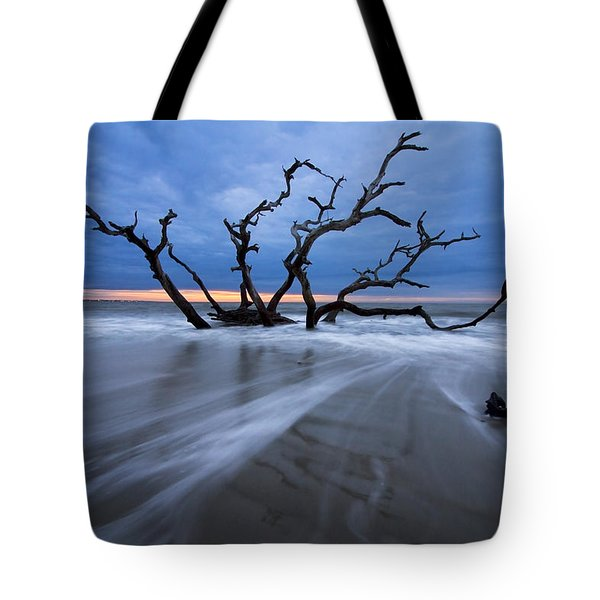 Into The Blue Tote Bag by Debra and Dave Vanderlaan