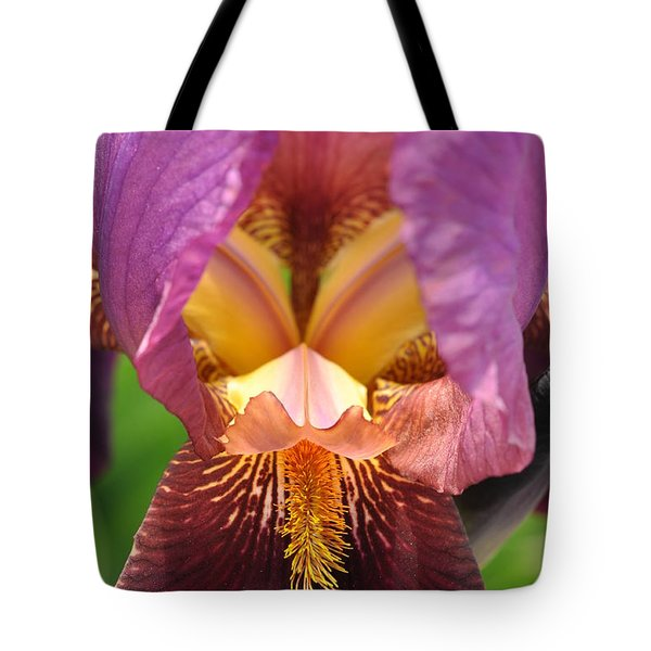 Tote Bag featuring the photograph Into The Center by Sabine Edrissi