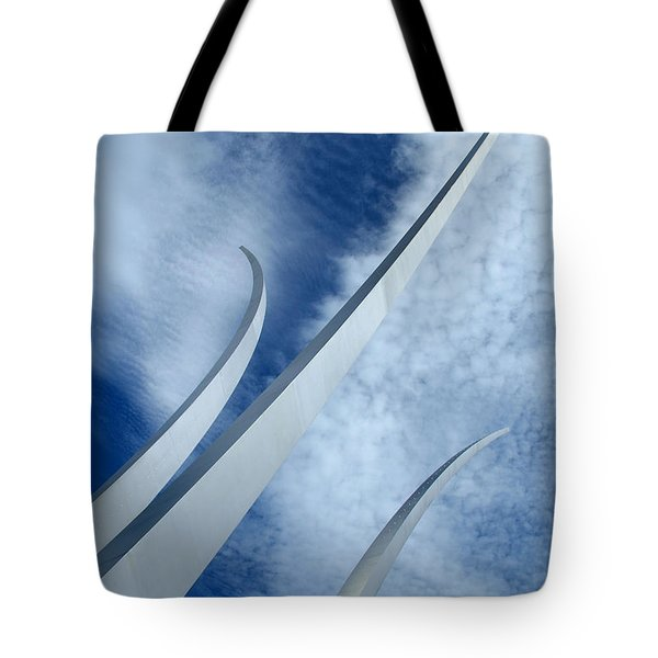 Tote Bag featuring the photograph Into The Clouds by Cora Wandel