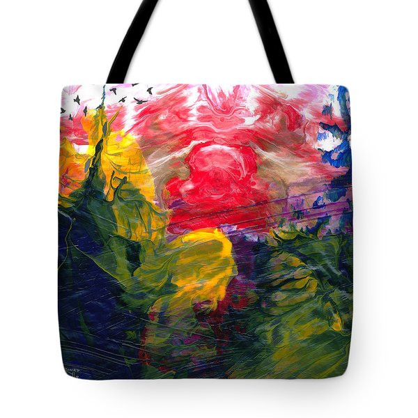 Tote Bag featuring the painting Irascible by Ron Richard Baviello