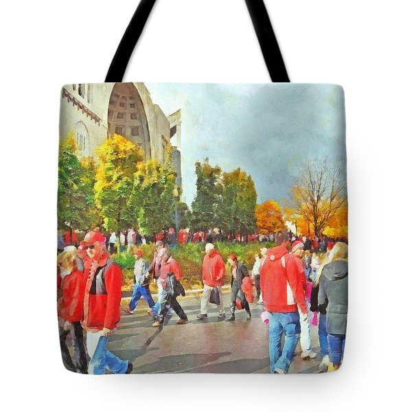 It Is Game Day Saturday At The Ohio State University Tote Bag