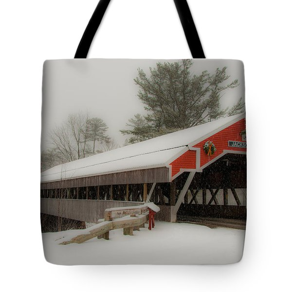 Jackson Nh Covered Bridge Tote Bag