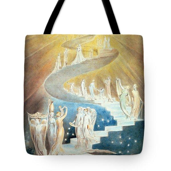 Jacob's Ladder Tote Bag by William Blake
