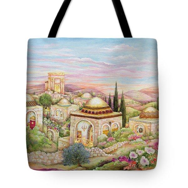 Jerusalem Landscape Tote Bag by Michoel Muchnik