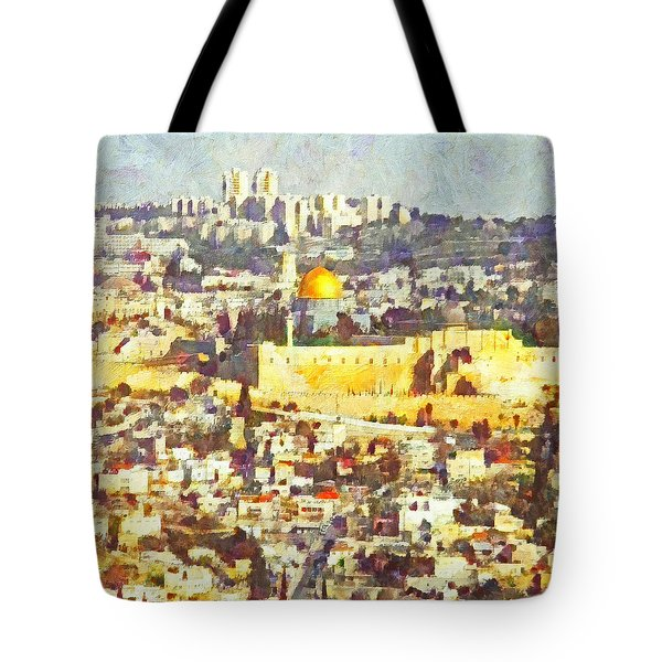 Jerusalem Sunrise Tote Bag