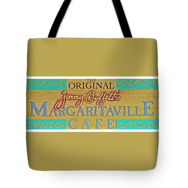 Jimmy Buffetts Margaritaville Cafe Sign The Original Tote Bag
