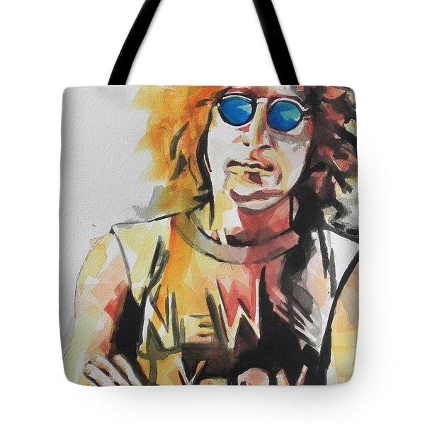 John Lennon 04 Tote Bag by Chrisann Ellis