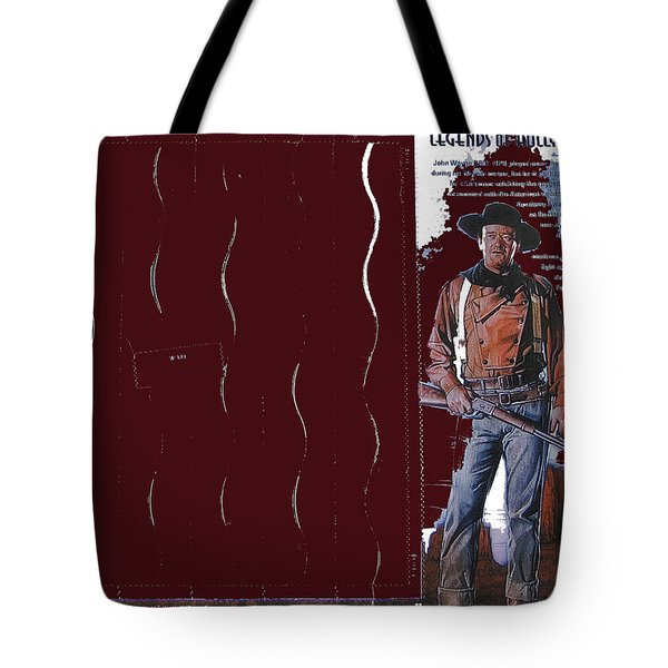 Tote Bag featuring the photograph John Wayne Stamp 2004-2013 by David Lee Guss
