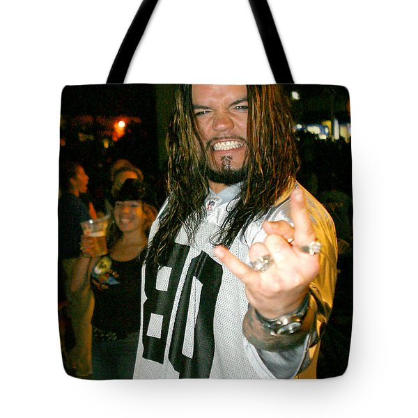Tote Bag featuring the photograph Josey Scott  Saliva by Don Olea