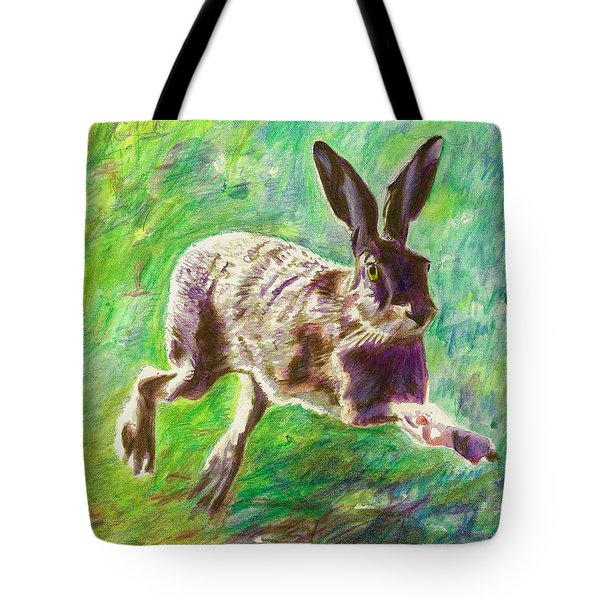 Joyful Hare Tote Bag