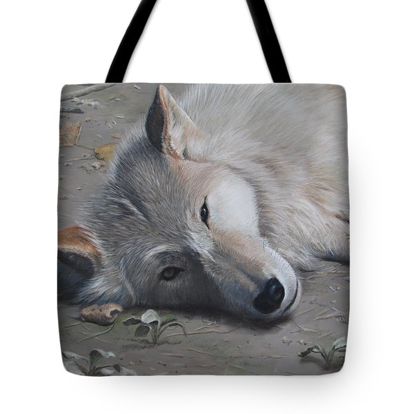 Tote Bag featuring the painting Just A Little Break by Tammy Taylor