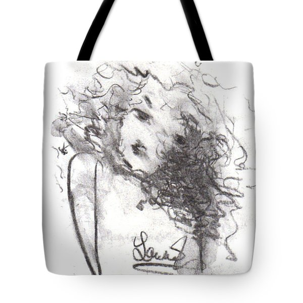 Tote Bag featuring the drawing Just Me by Laurie L