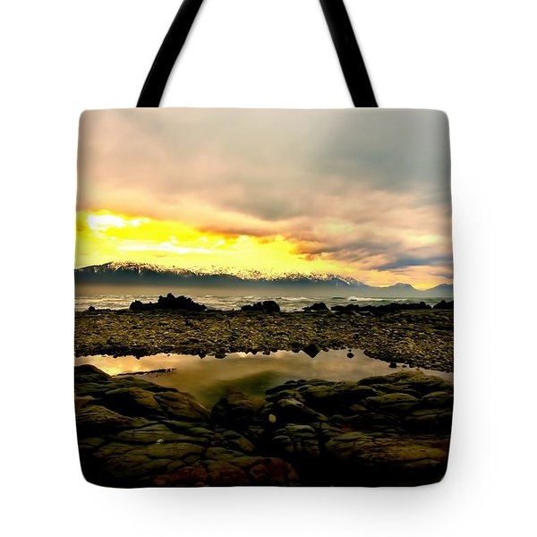 Tote Bag featuring the photograph Kaikoura Coast New Zealand by Amanda Stadther