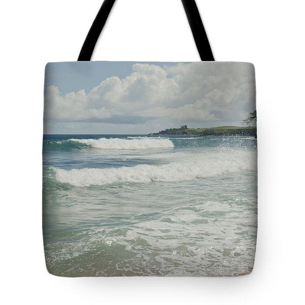 Kapalua Surf Honokahua Maui Hawaii Tote Bag