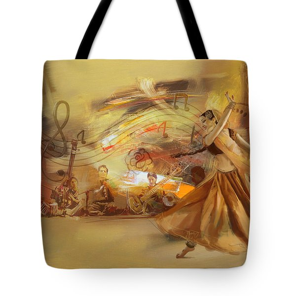 Kathak Dancer 4 Tote Bag by Catf
