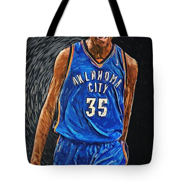 Kevin Durant Tote Bag by Taylan Apukovska