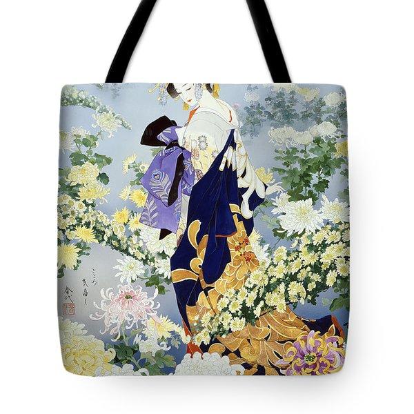 Kiku Tote Bag by Haruyo Morita