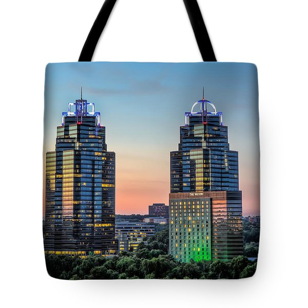 King And Queen Buildings Tote Bag by Anna Rumiantseva