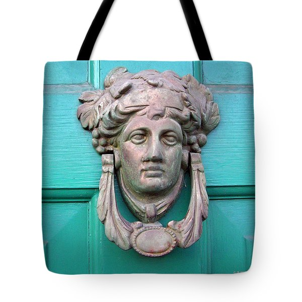 Knock Knock Tote Bag by Brian Wallace