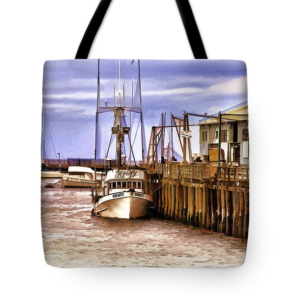 Tote Bag featuring the painting Kristy by Muhie Kanawati