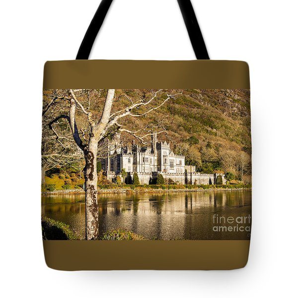 Kylemore Abbey In Winter Tote Bag