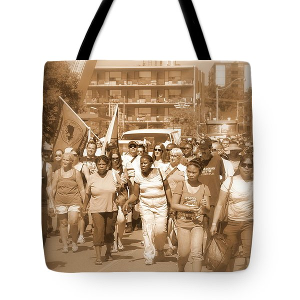 Labor Day Parade Tote Bag