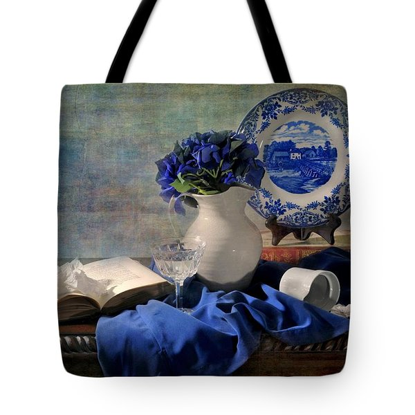 Lady's Got The Blues Tote Bag by Diana Angstadt