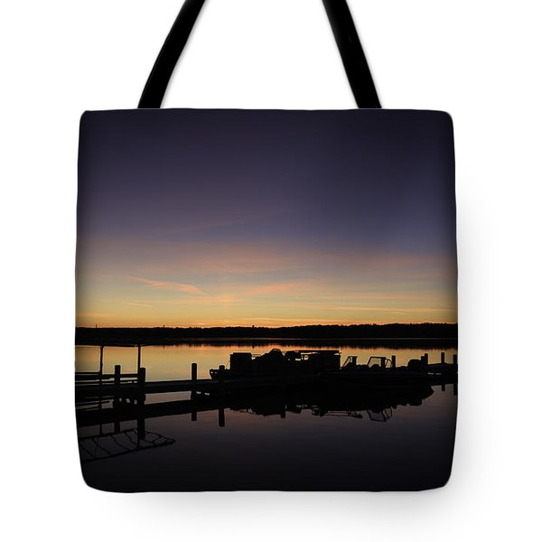 Lake Como Fall Sunset-1 Tote Bag