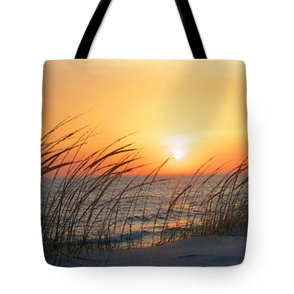 Lake Michigan Sunset Panorama Tote Bag