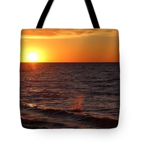 Lake Ontario Sunset Tote Bag