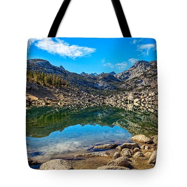 Lake Sabrina In Bishop Creek Canyon. Tote Bag