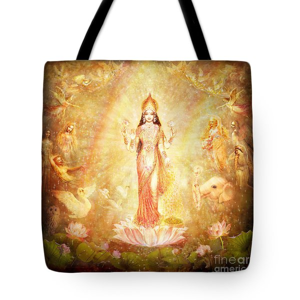 Lakshmi With Angels And Muses Tote Bag by Ananda Vdovic