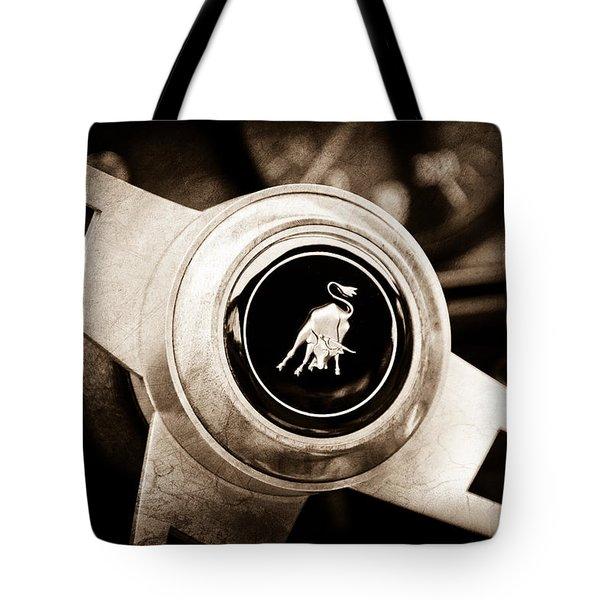 Lamborghini Steering Wheel Emblem Tote Bag by Jill Reger