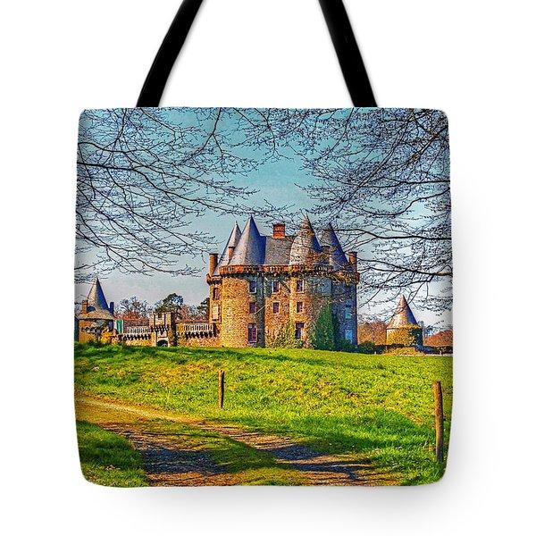 Tote Bag featuring the photograph Chateau De Landale by Elf Evans