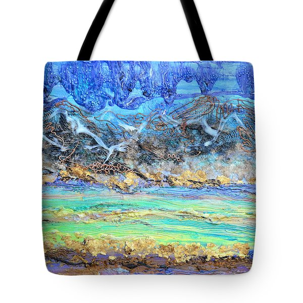 Landscape Layers Tote Bag by Regina Valluzzi