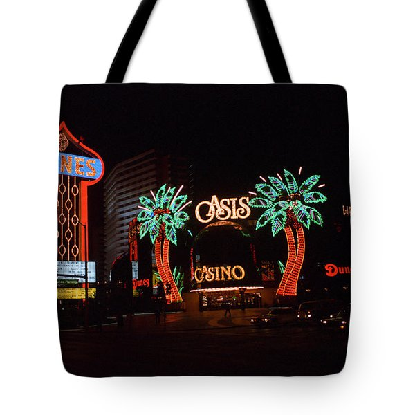 Tote Bag featuring the photograph Las Vegas 1983 #2 by Frank Romeo