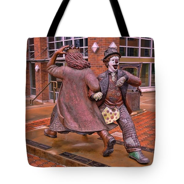 Late For The Interurban Tote Bag by Allen Beatty