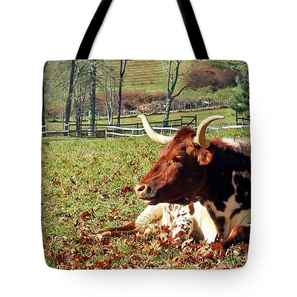 Lazy Morning Bull Tote Bag