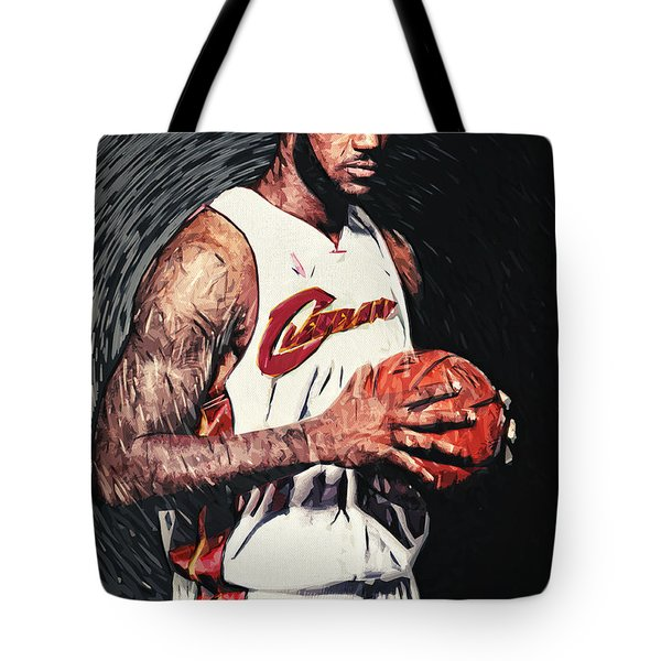 Lebron James Tote Bag by Taylan Apukovska