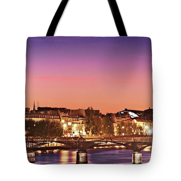 Left Bank At Night / Paris Tote Bag
