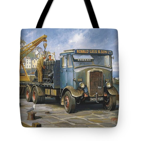 Leyland Hippo At Brixham. Tote Bag by Mike  Jeffries