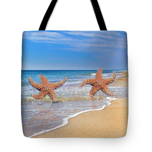 Life's A Beach Tote Bag by Betsy Knapp