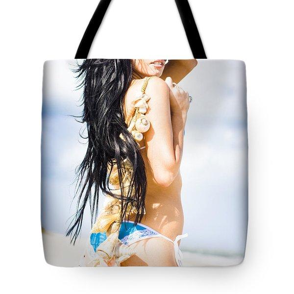 Lifestyle Woman Tote Bag